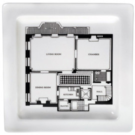 Fishs Eddy - Floor Plan Terrace Square Plate 9""