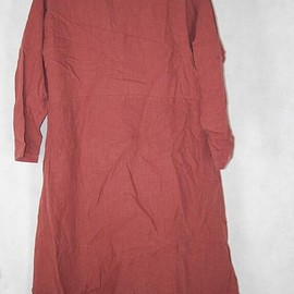 Loose shirt - Womens top, brick red long shirt, large size gown, Loose shirt