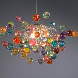 Lighting hanging chandeliers bubbles pastel color