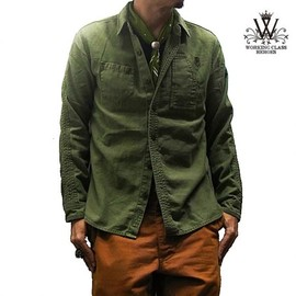 WORKING CLASS HEROES - WCH WORK SHIRTS (OLIVE)