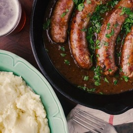 Bangers and Mash with Beer and Onion Gravy   Simple Provisions