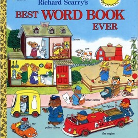 Richard Scarry - Best Word Book Ever (Richard Scarry) (Giant Little Golden Book) [Special Edition]