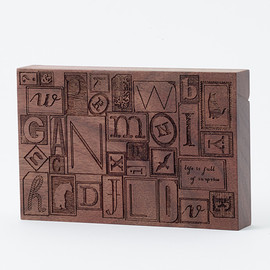 CEMENT PRODUCE DESIGN, Card Chest - letterpress blocks / walnut