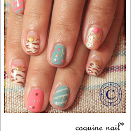 coquine*nail - パリパリアイスなネイル。
