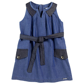 Little Marc Jacobs - Stone-washed denim chambray dress