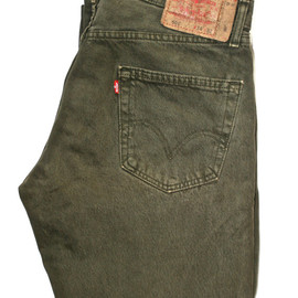 Levi's - Vintage Army Green Levis Jeans Size 34/32