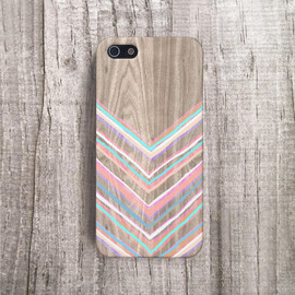 cases by csera - PASTEL CHEVRON iPhone Case Pink Mint chevron iphone 5 Case  Samsung Galaxy S5 Case