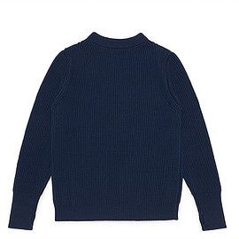 ANDERSEN-ANDERSEN - Navy Crew Neck Knit-Royal Blue