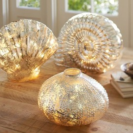 Pottery Barn - Lit Mercury Glass Shells