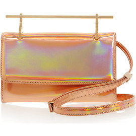 M2MALLETIER - Fabricca holographic leather clutch