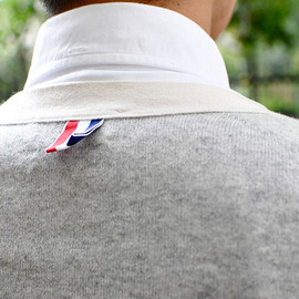Thom Browne - White Button-Down Shirt & Light Grey Cashmere Cardigan