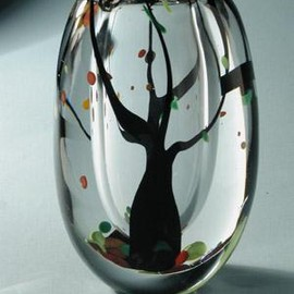 Kosta Boda - Vase, Autumn, designed by Vicke Lindstrand for Kosta