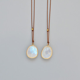 Margaret Solow - Enclosed Large Rainbow Moonstone Necklace