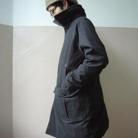TATAMIZE - Black Soutien Collar COAT 08  by <coarse court>(Walls&Bridges別注)