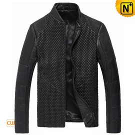 CWMALLS - Black Italian Leather Jacket for Men CW804076