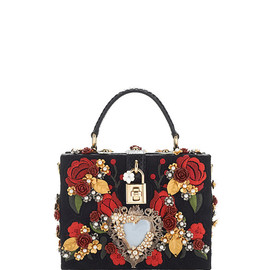 DOLCE&GABBANA - SS2015 Sacred Heart And Carnation Embroidered Box Bag