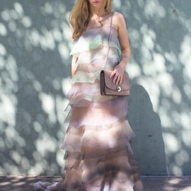 Marc Jacobs - Marc Jacobs Tiered Crinkled-organza Gown
