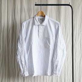 YAECA - Pullover Shirt #blue stripe