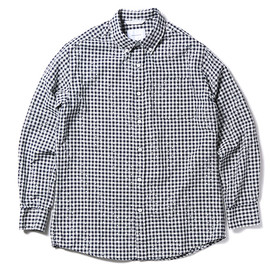 thisisneverthat - 【thisisneverthat】CHECK & DOT BUTTON DOWN SHIRT(BLACK-WHITE)