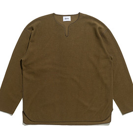 blurhms - Rough&Smooth Thermal Over Neck Loose Fit-K.Brown