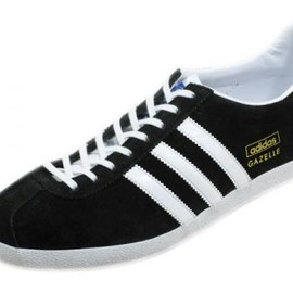 adidas originals - GAZELLE OG Black ×White × Gold