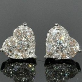 Chanel heart-shaped diamond earrings