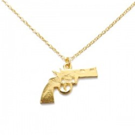 Lilou - PISTOL NECKLACE M19 gold