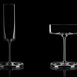 Karl Lagerfeld / Orrefors - Champagne flute & Champagne coupe