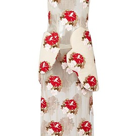 SIMONE ROCHA - FW2015 Sleeveless Tapestry Floral Midi Dress