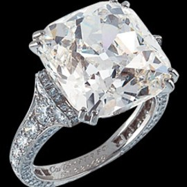 Cartier - Cartier Cushion-Cut Diamond Ring.