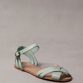 PULL&V|BEAR - LEATHER STRAP SANDALS