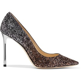 Jimmy Choo - Romy glittered leather pumps