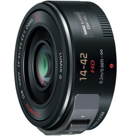 Panasonic - LUMIX G X VARIO PZ 14-42mm/F3.5-5.6 ASPH./ POWER O.I.S. H-PS14042-K [ブラック] の製品画像