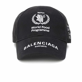 BALENCIAGA - FW2018 World Food Programme cotton cap
