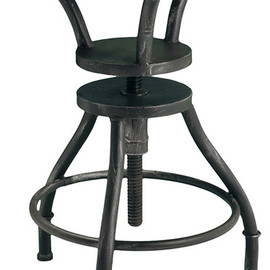 Houston Industrial Design - Adjustable-Height Bar Stool industrial bar stools and counter stools