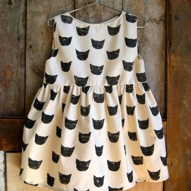 leahgoren - Black Cat Dress