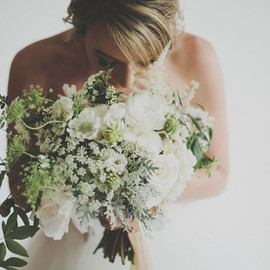 whimsical white and green bouquet