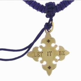 CATHERINE MICHIELS - Let It Be Cross Charm in Bronze on Santiago Cord