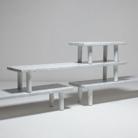 Jasper Morrison - tables, Carrara marble, limited edition 8 pieces