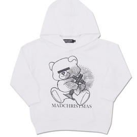 """UNDERCOVER KIDS - UNDERCOVER(アンダーカバー)""""TOKYOSKYTREETOWNSOLAMACHI""""EXCLUSIVEBEARMADCHRISTMASHOODIE WHITE"""