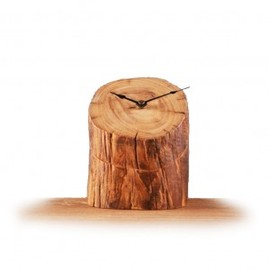 hallomall - Creative Stump Wooden Novelty Table Clock Online Shop