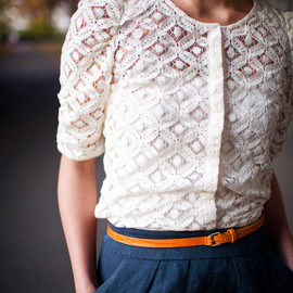 Lace Button Up Blouse