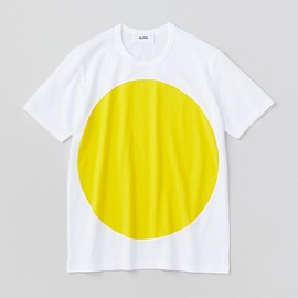ALOYE - Color Block - Shoort Sleeve Color Block T-shirt (White-Yellow)
