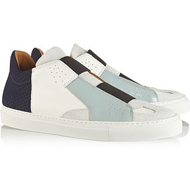 MM6, Maison Martin Margiela - Paneled leather and suede sneakers