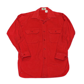 VINTAGE - Vintage 80s REI Red Flannel Button Up Shirt Made in USA Mens Size Medium