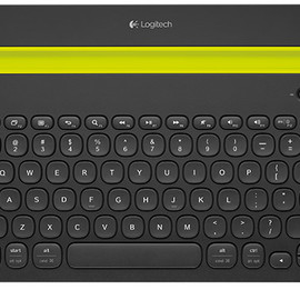 Logitech - Bluetooth Multi-Device Keyboard: K480