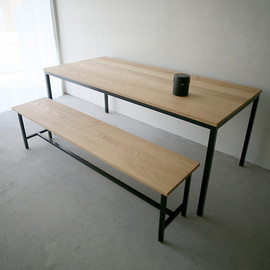 NAUT - Atelier table & Frame long bench