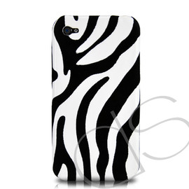 Zebra Series Hard iPhone 4 Case - White