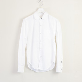 BAND OF OUTSIDERS - ROUND COLLAR OXFORD SHIRT WHITE