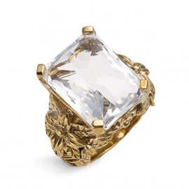 Stephen Dweck - Stephen Dweck  Rectangular Rock Crystal Ring 1